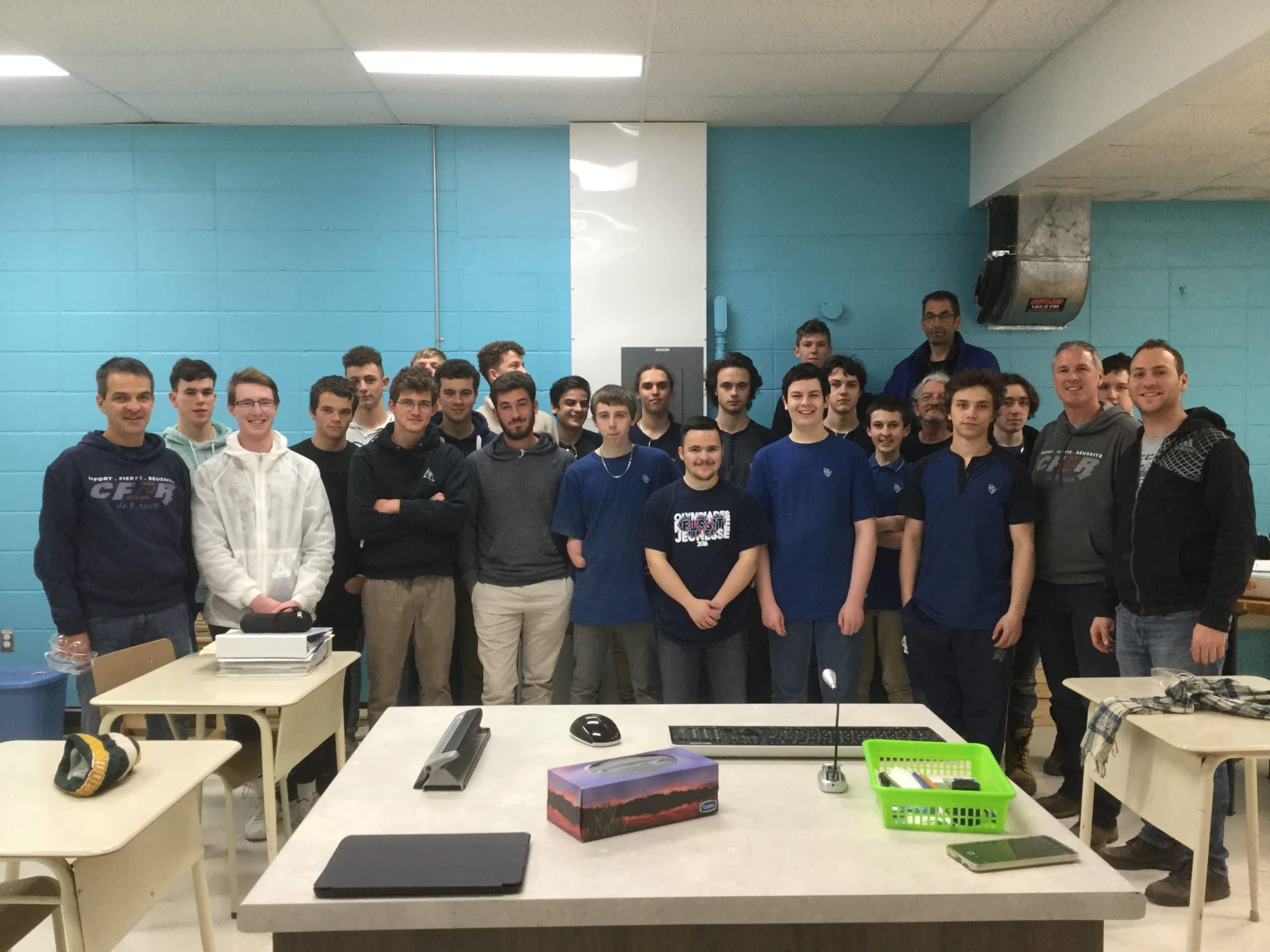 Une délégation française au CFER de Beauce